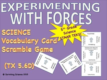 Science Vocabulary Scramble: Experimenting w/ Forces  (TX