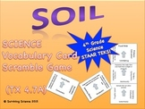 Science Vocabulary Scramble: Soil (TX TEKS 4.7A)