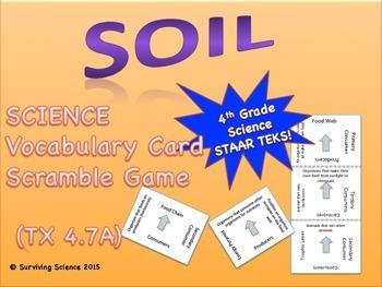 Science Vocabulary Scramble: Soil (TX TEKS 4.7A)