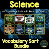Science Vocabulary Sort Bundle