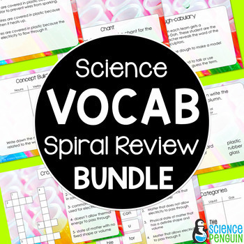 Science Vocabulary Review GROWING Bundle
