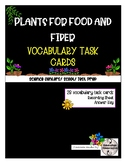 Science Task Cards - Plants for Food & Fibre - SCOOT or Centre