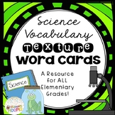 Science Vocabulary Texture Word Cards
