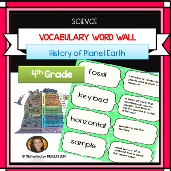 Science Vocabulary WORD WALL The History of Planet Earth