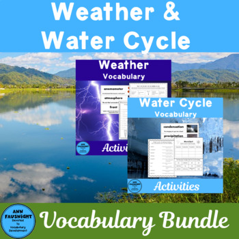 Weather and the Water Cycle Vocabulary