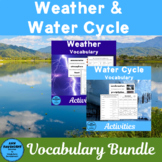 Weather and the Water Cycle Vocabulary Bundle