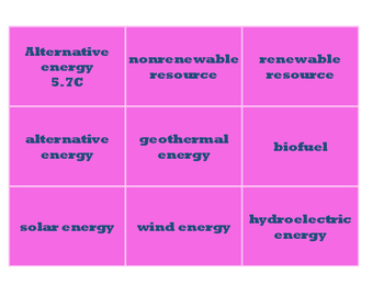 Science Vocabulary Word Cards