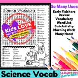 Science Vocabulary Word Search