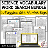 Science Vocabulary Word Search Bundle! 6 Puzzles With Answ