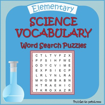 Science Vocabulary Word Search Puzzle Bundle