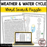 Science Vocabulary Word Search - WEATHER