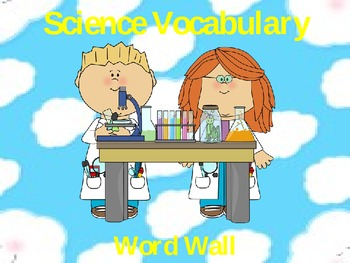 Science Vocabulary Word Wall
