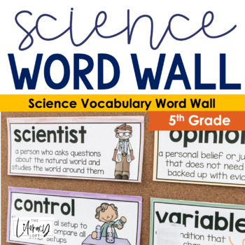 Science Vocabulary Word Wall {5th Grade}