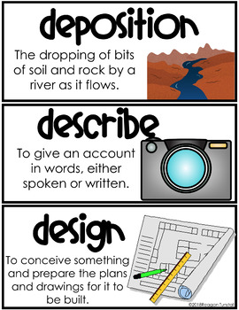 Science Vocabulary Word Wall Cards 3rd-5th