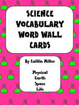 Science Vocabulary Word Wall Cards 5th
