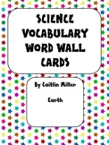 Science Vocabulary Word Wall Cards Earth Bold