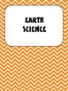 Science Vocabulary Word Wall Cards Earth Chevron