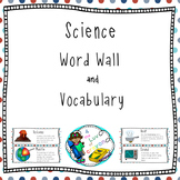 Science Vocabulary and Word Wall with definitions