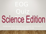 EOG Science Vocabulary for End of Year Assessment