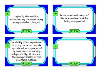 Science Vocabulary - over 150 words!