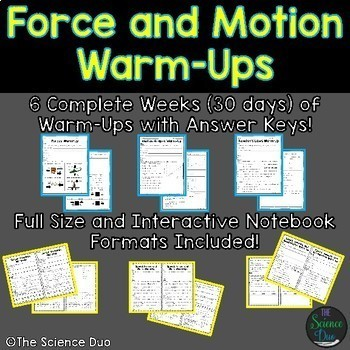 Science Warm-Ups and Bell Ringers Bundle