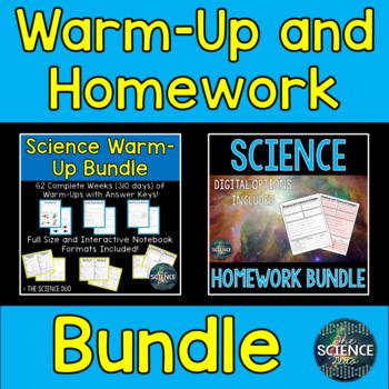 Science Warm-Up and Homework Bundle
