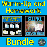 Science Warm-Up and Homework Bundle