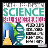 Science Warm Ups and Bell Ringers Bundle - Earth, Physical