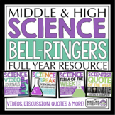 Science Warm Ups and Bell Ringers - Full Year Resource