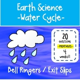 5th - 6th Grade Science Bell Ringers / Exit Slips - Water Cycle