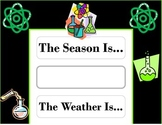 Science Weather Chart! Science Bulletin Board! Science Theme! Science Class!
