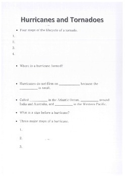 Science, Weather, Hurricanes and Tornadoes