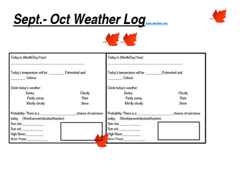 Science Weather Log