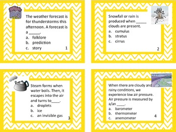 Science: Weather Task Cards