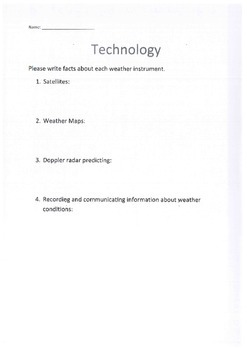 Science, Weather, Technology