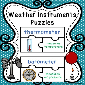 Science Weather Tools Sort Vocabulary Puzzles Weather Instruments Sort Activity