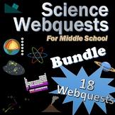18 Science Webquests Bundle (Matter, Elements, Space, Moon
