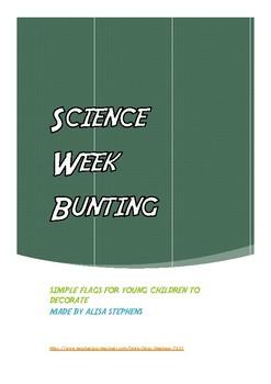 Science Week Bunting (coloured)