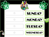 Science Weekday Chart! Science Bulletin Board! Science Theme! Science Class!