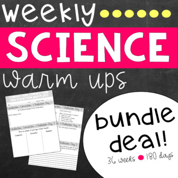 Ecosystem changes teaching resources teachers pay teachers science weekly warm ups bundle science weekly warm ups bundle fandeluxe Image collections