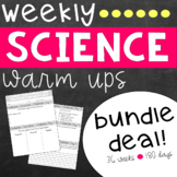 Science Weekly Warm Ups Bundle