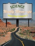 Science Weekly Warm-ups Reporting Category 1