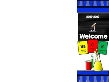 Science Welcome Back Pamphlet for Parents