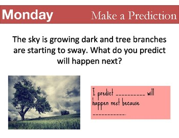 Science Morning Work Prompts - Set #1