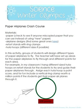 Science Winter Olympics - Fun Science-Based Games {FREE}