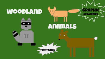 Science Woodland Animals Packet Printables Graphic Organizers Forest