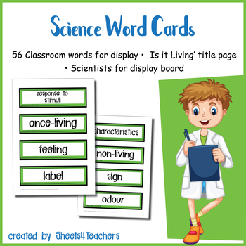 Science Word Cards -   Is it Living