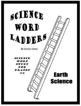 Science Word Ladders - Earth Science