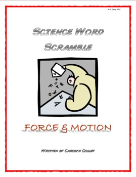 Science Word Scramble - Physical Science: Force and Motion