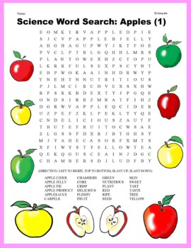 Science Word Search: Apples